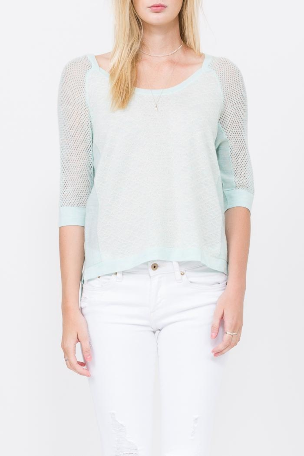 QUINN Grace Panaeled Sweater - Front Full Image