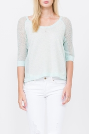 QUINN Grace Panaeled Sweater - Front full body