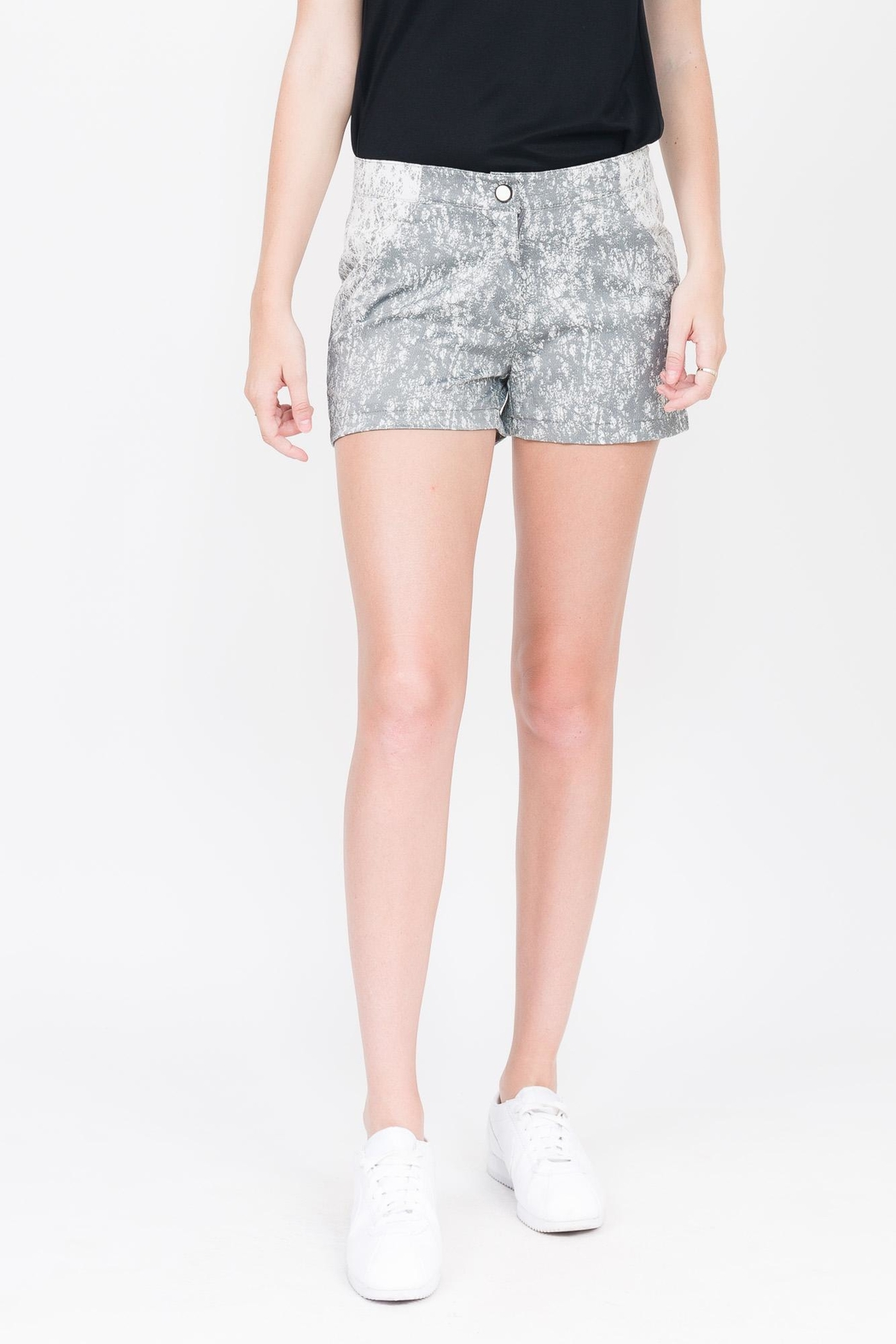 QUINN Jade Paneled Short - Front Cropped Image