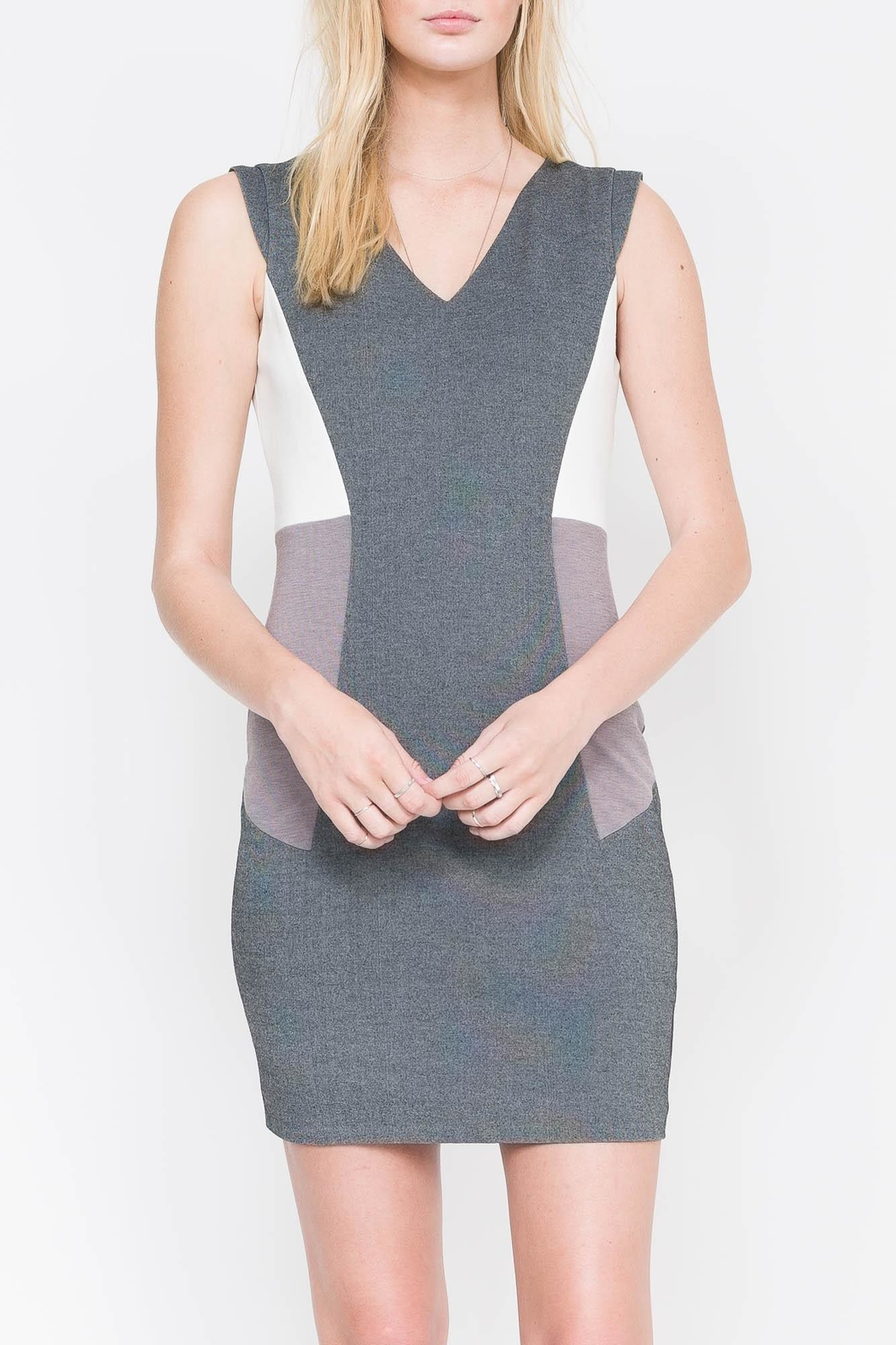QUINN Nerissa Color-Blocked Dress - Front Cropped Image