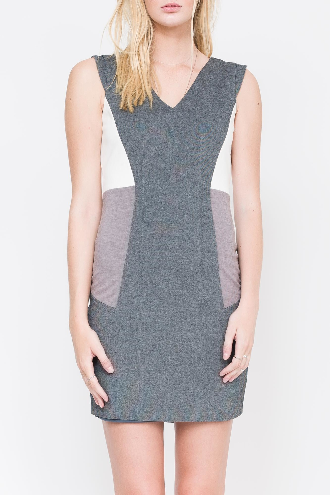 QUINN Nerissa Color-Blocked Dress - Front Full Image