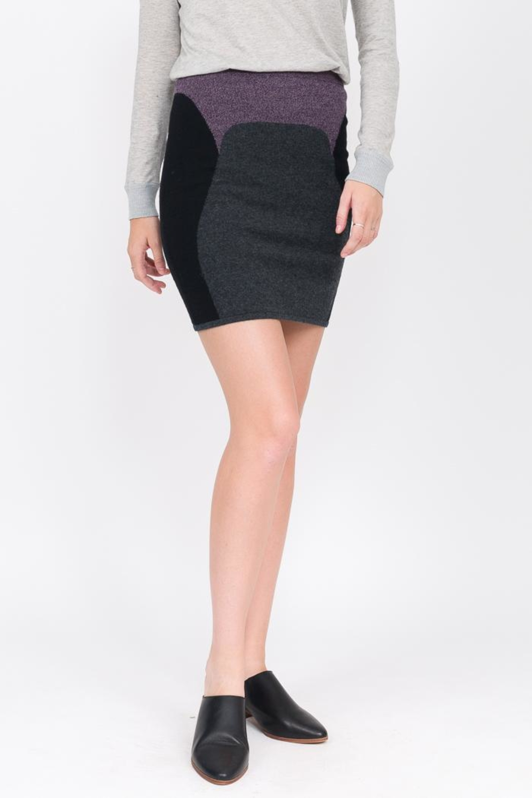 QUINN Vanessa Cashmere Skirt - Front Cropped Image
