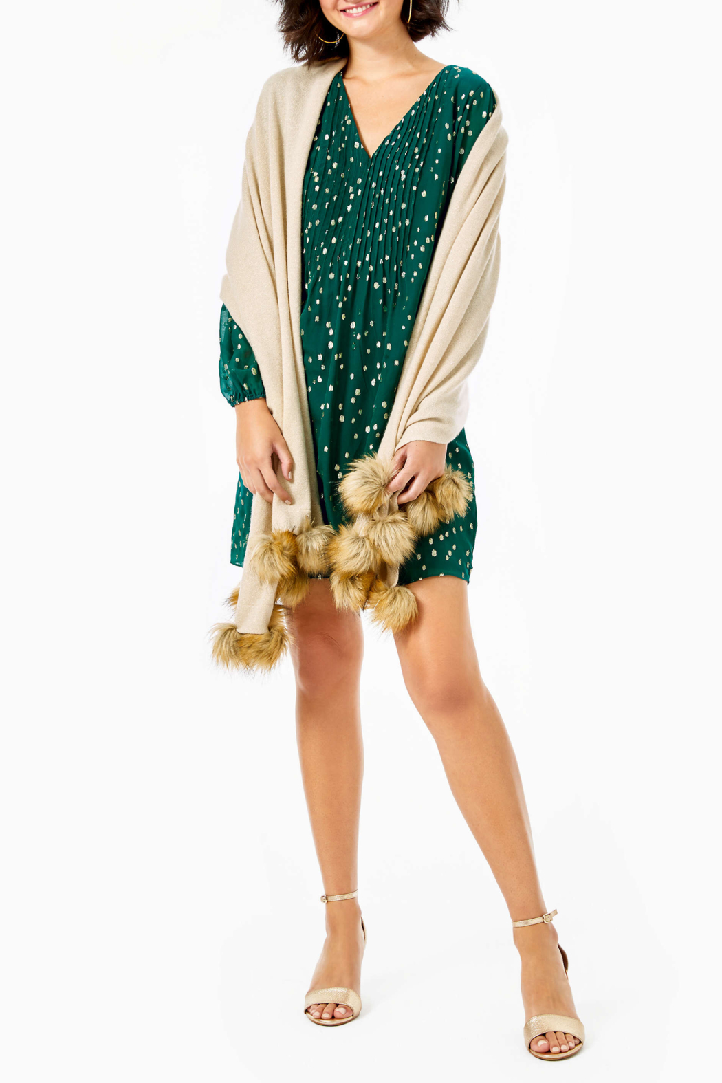 Lilly Pulitzer  Quinney Pom Pom Wrap - Side Cropped Image