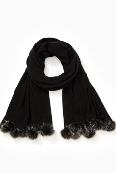 Lilly Pulitzer  Quinney Wrap Faux-Fur Pom-Pom Trim - Product List Image