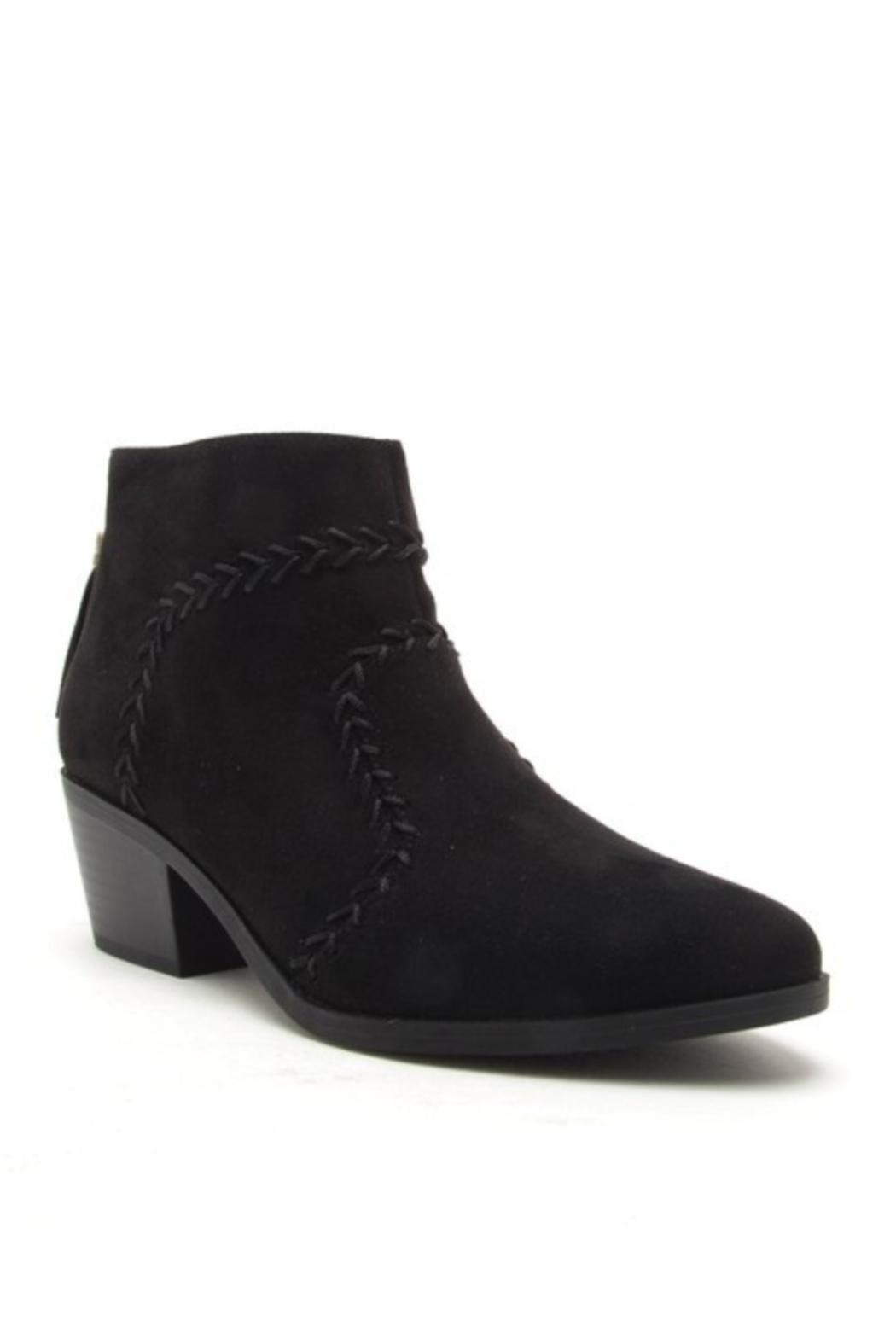 Quipid Stitched Suede Booties - Main Image