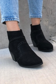 Quipid Stitched Suede Booties - Front full body