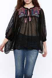Quizai Sheer Black Blouse - Product Mini Image