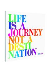 Quotable Cards Life Is A Journey Canvas - Product Mini Image