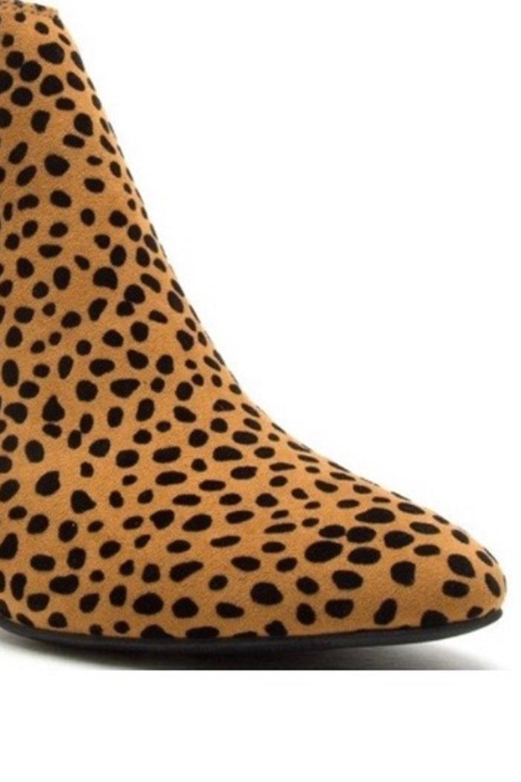 Qupid Animal Print Booties - Front Full Image