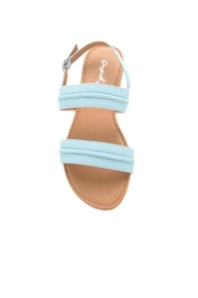 Qupid Archer Coral Sandal - Front full body