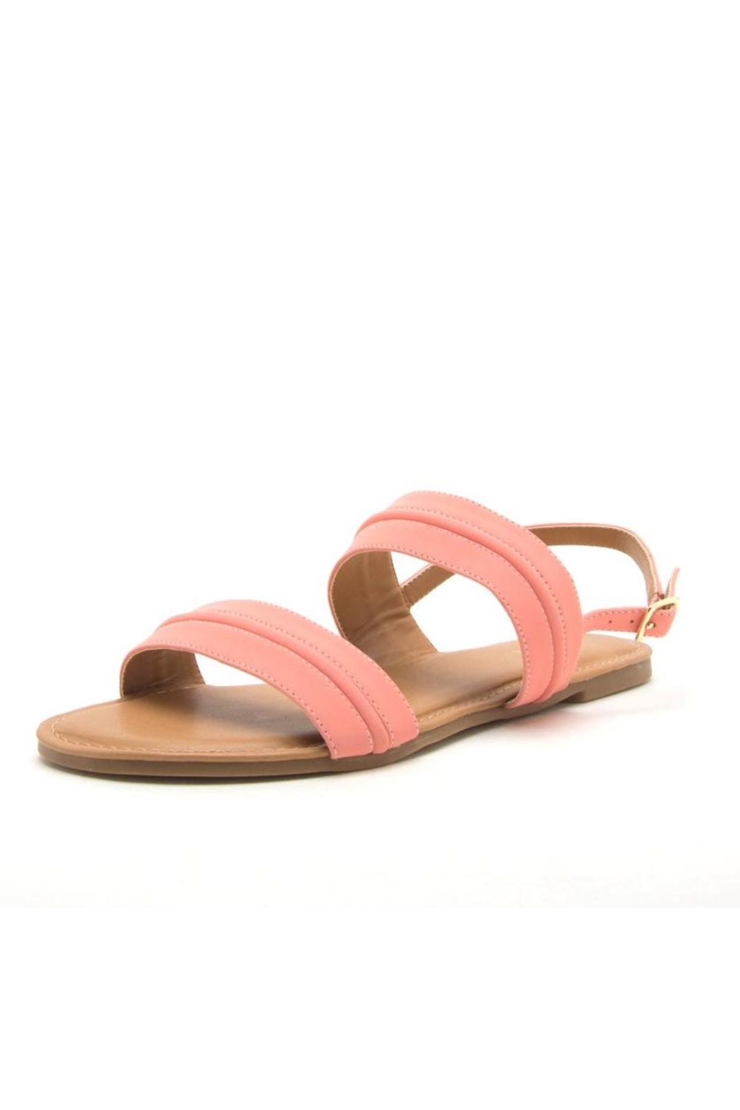 Qupid Archer Coral Sandal - Side Cropped Image