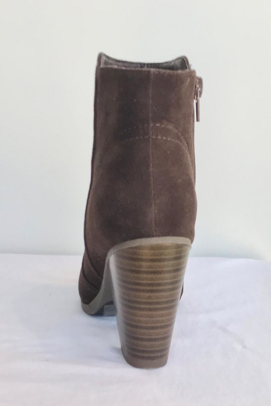 Qupid Basic Brown Bootie - Front Full Image