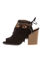 Qupid Suede Black Bootie - Side cropped