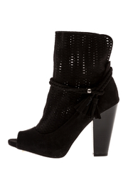Qupid Black Booties - Front full body