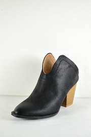 Qupid Black Mule Booties - Front full body
