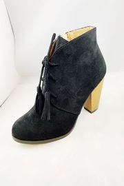 Qupid Black Suede Bootie - Product Mini Image