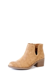 Qupid Camel Philly Cutout Boots - Product Mini Image