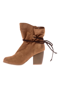 Shoptiques Product: Camel Suede Booties