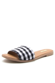 Qupid Checkered Gorgeous Sandals - Front full body