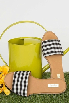 Qupid Checkered Gorgeous Sandals - Product List Image