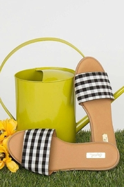 Qupid Checkered Gorgeous Sandals - Front cropped