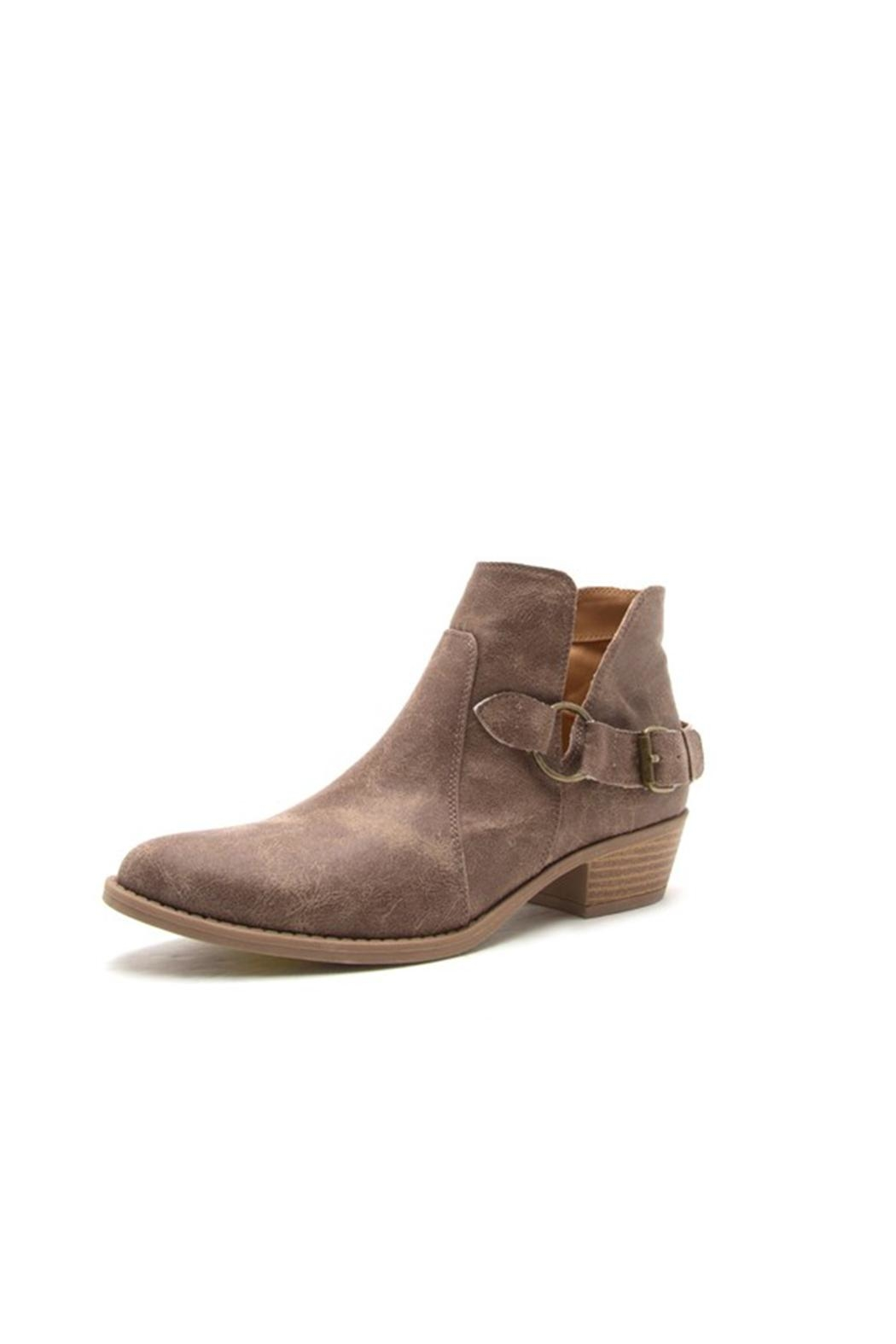 Qupid Distressed Ankle Booties - Main Image