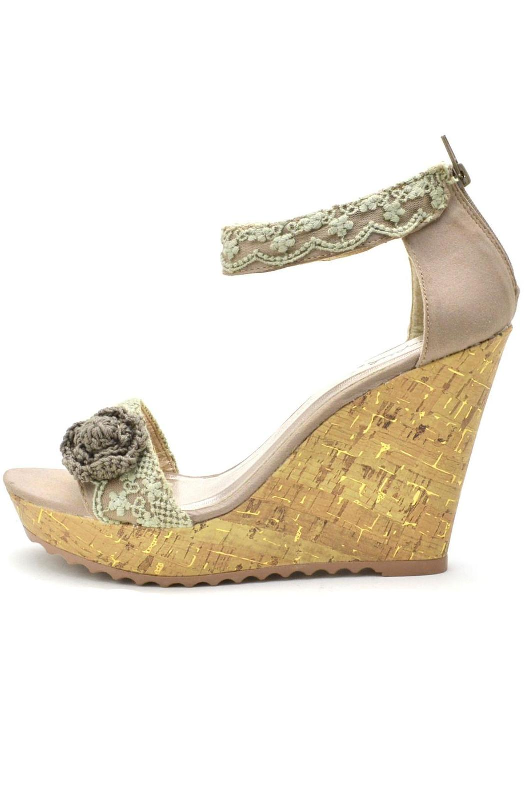 qupid fabric wedge sandals from california by that s