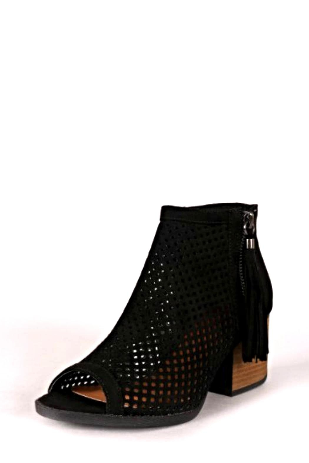 Qupid Fringe Tassel Booties - Front Cropped Image