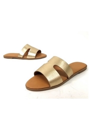 Qupid Gold Flat Slides - Product Mini Image