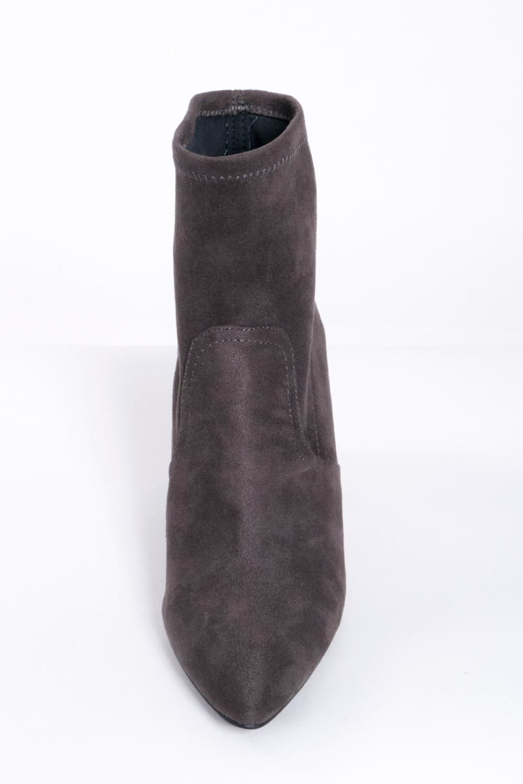 Qupid Grey Sock Boots - Side Cropped Image