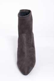 Qupid Grey Sock Boots - Side cropped