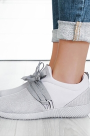 Qupid Grey Tennis Shoe - Product Mini Image