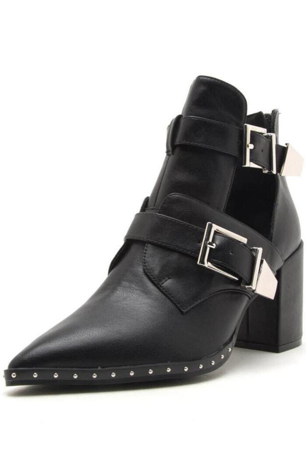Qupid Heeled Bootie With Buckles - Main Image
