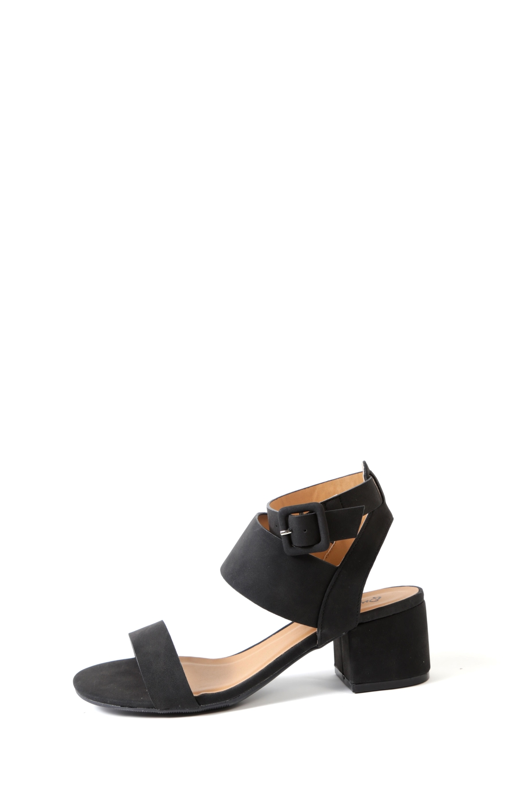Qupid Jaden Low Heeled Sandal - Front Cropped Image