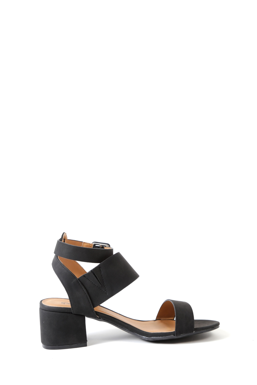 Qupid Jaden Low Heeled Sandal - Side Cropped Image