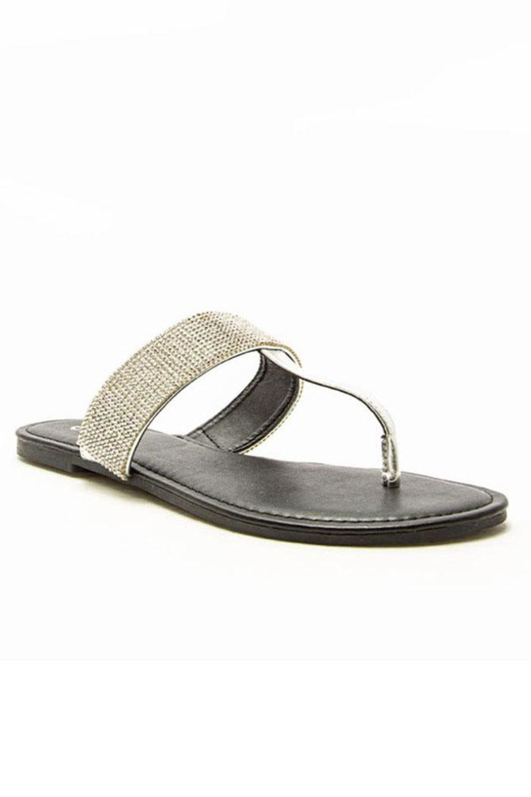 Qupid Jeweled Thong Sandal - Main Image