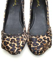 Qupid Leopard Satin Ballet - Side cropped