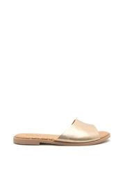Qupid Metallic Sandals - Side cropped