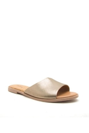 Qupid Metallic Sandals - Front cropped