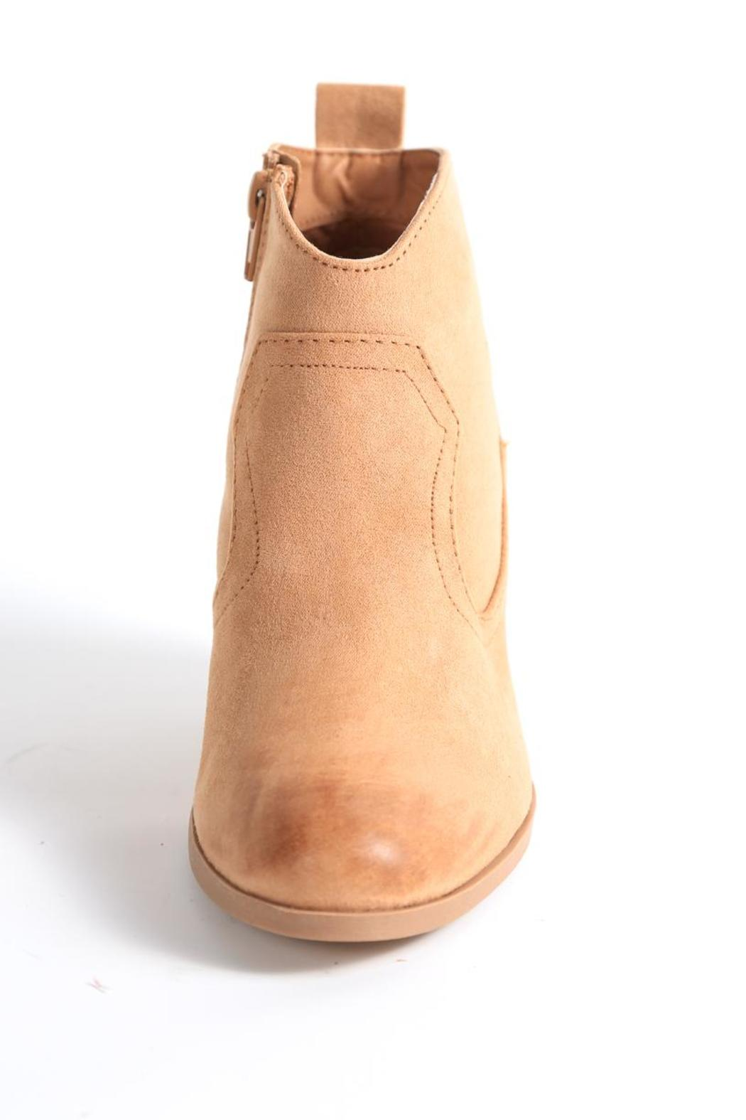 Qupid Nixon Ankle Bootie - Back Cropped Image