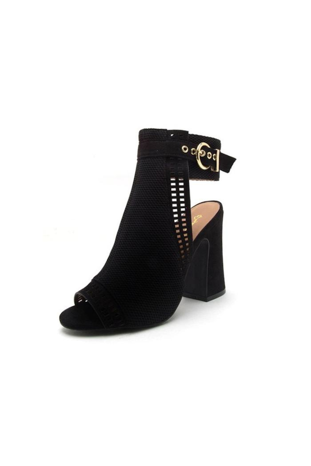 Qupid Open Toe Bootie - Front Cropped Image