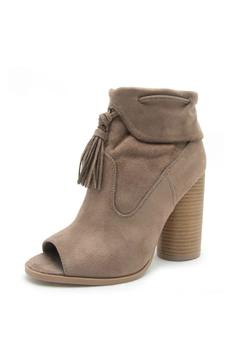 Shoptiques Product: Open Toe Tassel Booties