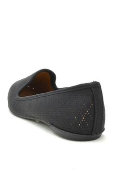 Qupid Perforated Loafer Flats - Alternate List Image