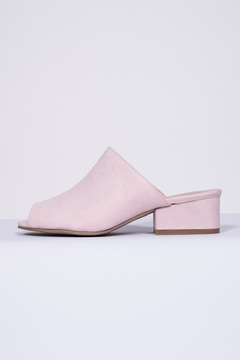 Qupid Pink Suede Mule - Product List Image