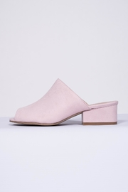 Qupid Pink Suede Mule - Product Mini Image