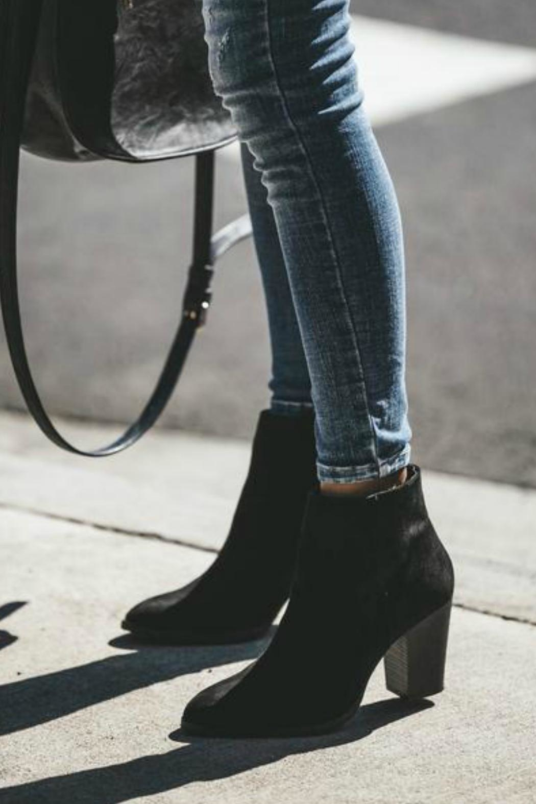 Qupid Portland Suede Booties - Front Cropped Image