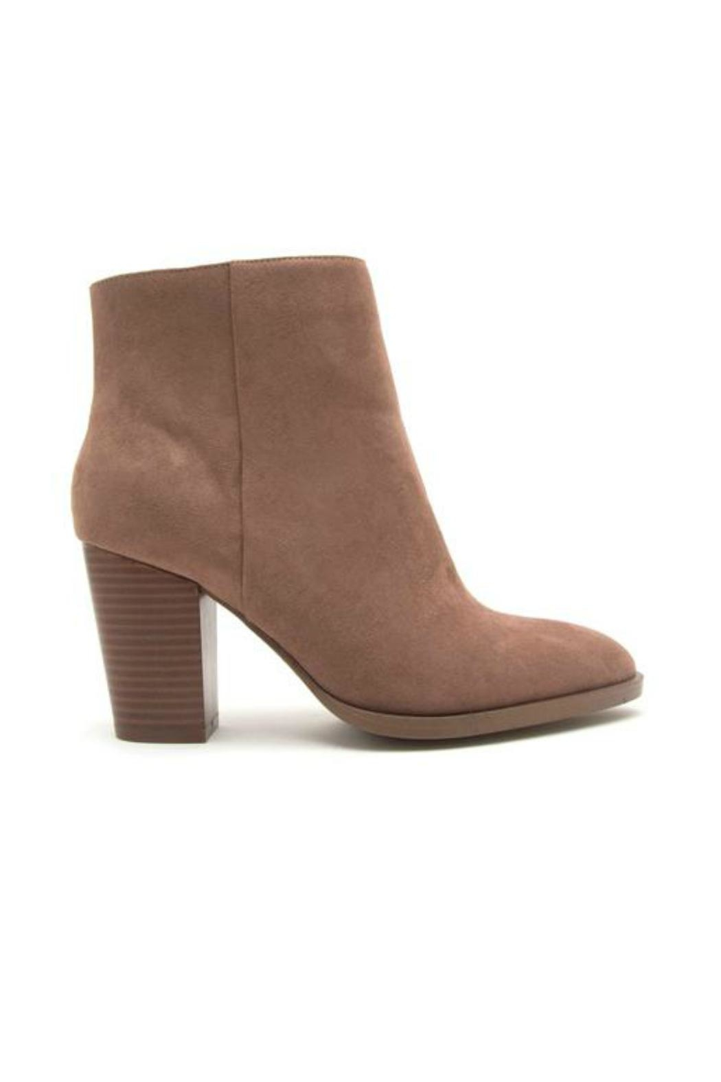 Qupid Portland Suede Booties - Front Full Image