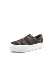 Qupid Royal Camo Sneaker - Front cropped