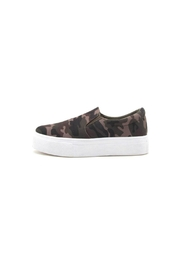 Qupid Royal Camo Sneaker - Front full body