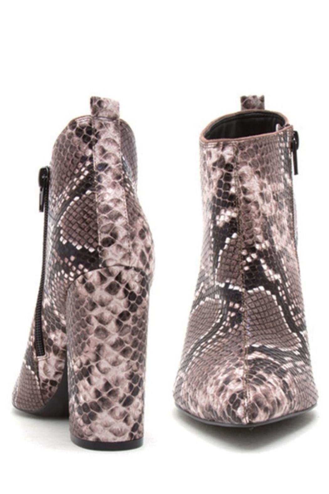 Qupid Signal Reptile Booties - Side Cropped Image